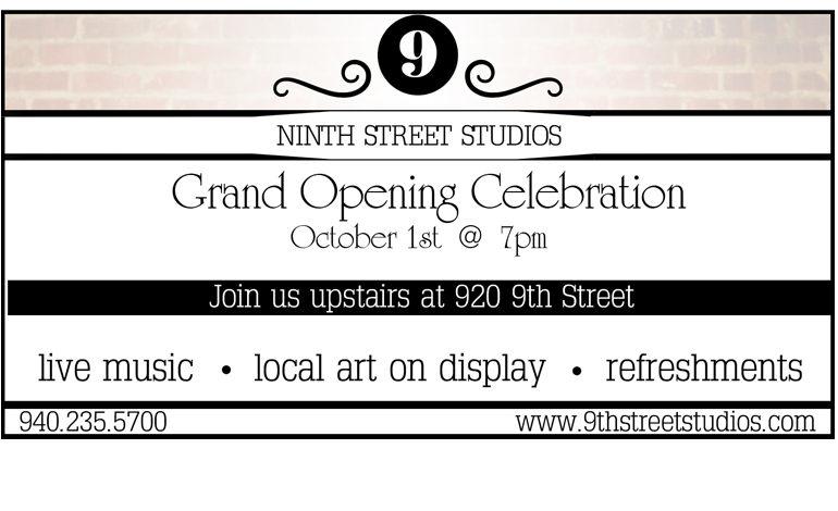 9th Street Studios – Grand Opening Soon