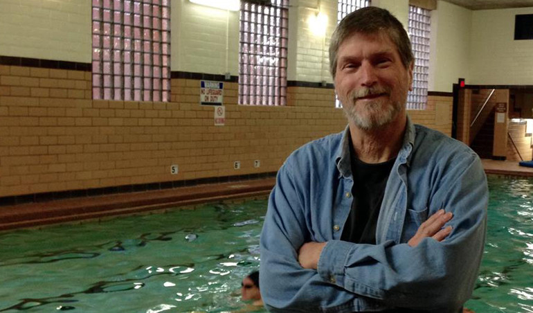 Bruce Canafax of Wichita Falls swam 400 miles in 2015